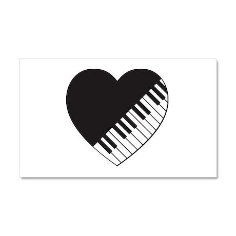 Piano Heart Car Magnet 20 x 12