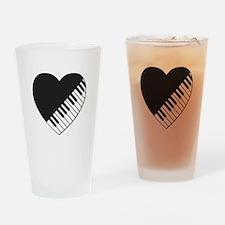 Piano Heart Drinking Glass