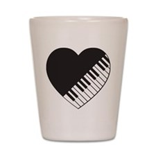 Piano Heart Shot Glass