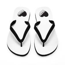 Piano Heart Flip Flops