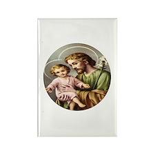 Saint Joseph and Child Jesus V Rectangle Magnet