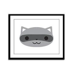 Raccoon Framed Panel Print