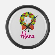 Christmas Wreath Alana Large Wall Clock