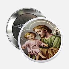 "Saint Joseph - Child Jesus 2.25"" Button"