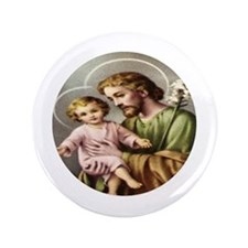 "Saint Joseph and Child Jesus 3.5"" Button"