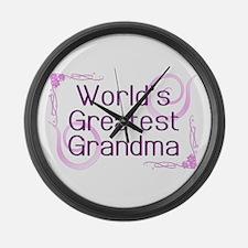World's Greatest Grandma Large Wall Clock
