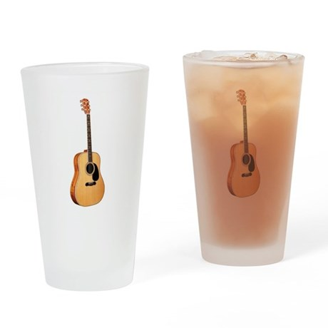 Acoustic Guitar Drinking Glass