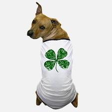 Vintage, Four Leaf Clover Dog T-Shirt