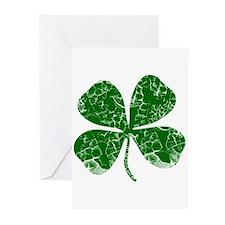 Vintage, Four Leaf Clover Greeting Cards (Pk of 10