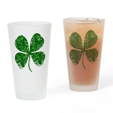 Vintage, Four Leaf Clover Drinking Glass