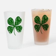 Vintage, Four Leaf Clover Drinking Glass