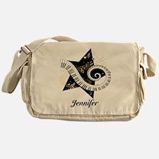 Music star gold black Messenger Bag
