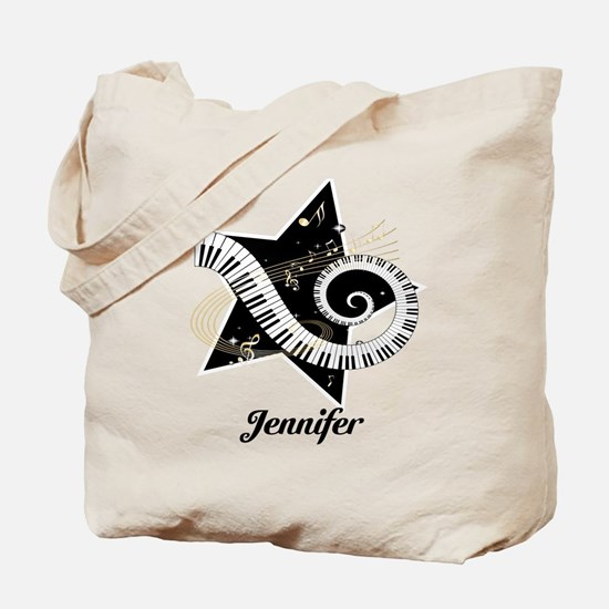 Music star gold black Tote Bag