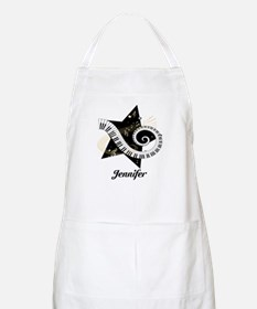 Music star gold black Apron
