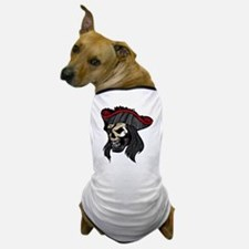 Zombie Pirate with Eye Patch Dog T-Shirt