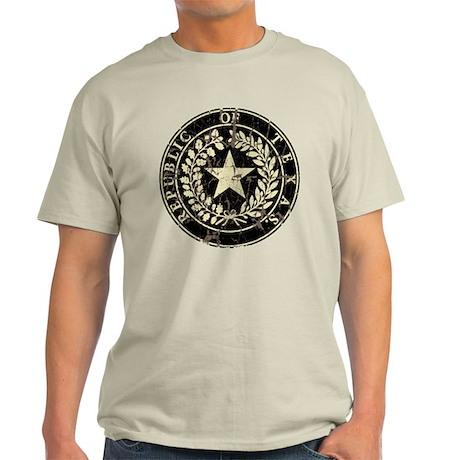 Republic of Texas Seal Distre Light T-Shirt