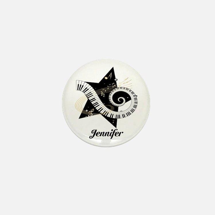 Music star gold black Mini Button