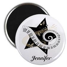 """Music star gold black 2.25"""" Magnet (10 pack)"""