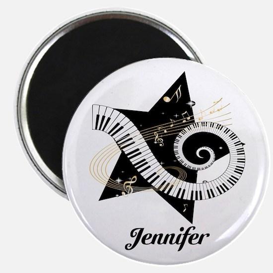 Music star gold black Magnet