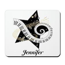 Music star gold black Mousepad