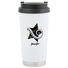 Music star gold black Travel Mug