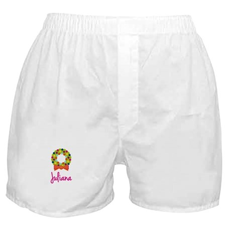Christmas Wreath Juliana Boxer Shorts