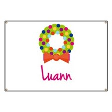 Christmas Wreath Luann Banner
