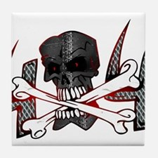 4x4 Evil Skull Tile Coaster