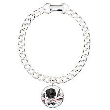 4x4 Evil Skull Charm Bracelet, One Charm