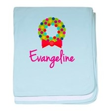 Christmas Wreath Evangeline baby blanket