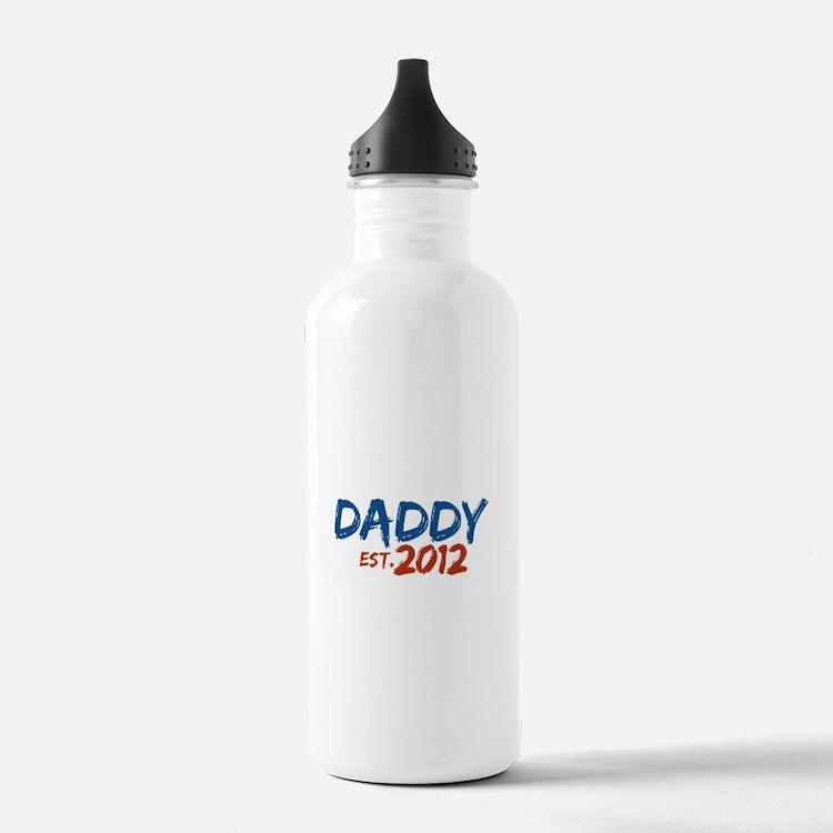 Daddy Est 2012 Water Bottle