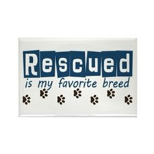 Rescued is my favorite breed Rectangle Magnet (10