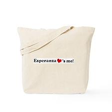 Esperanza loves me Tote Bag