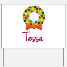 Christmas Wreath Tessa Yard Sign