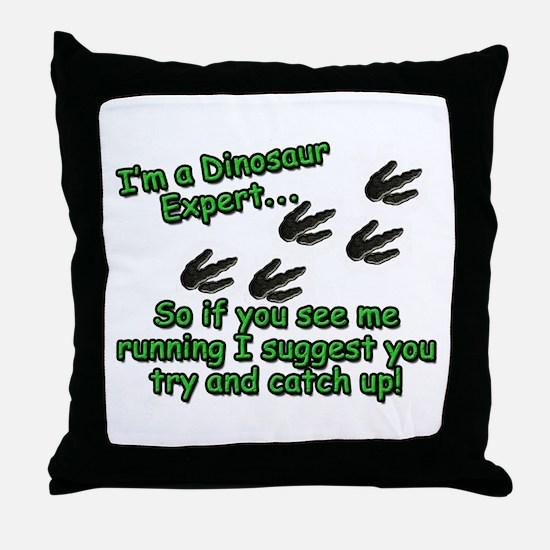 Cute Paleontology Throw Pillow