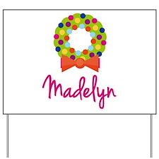 Christmas Wreath Madelyn Yard Sign