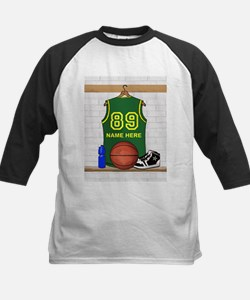 Personalized Basketball Green Tee