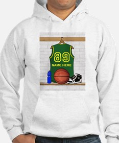 Personalized Basketball Green Hoodie
