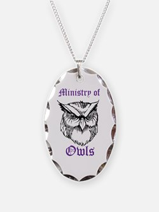 Owl Ministry Blk/Purple Necklace