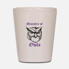 Owl Ministry Blk/Purple Shot Glass