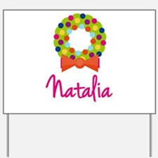 Christmas Wreath Natalia Yard Sign