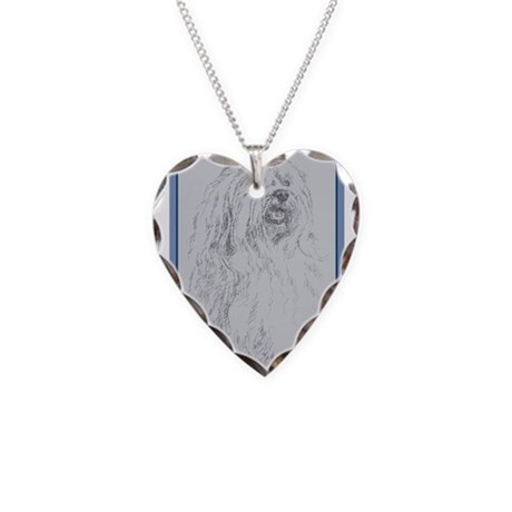Havanese Necklace Heart Charm