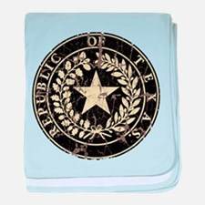 Republic of Texas Seal Distre baby blanket