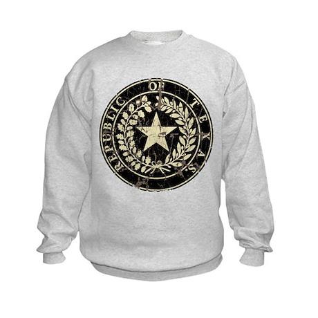 Republic of Texas Seal Distre Kids Sweatshirt