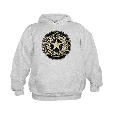Republic of Texas Seal Distre Kids Hoodie