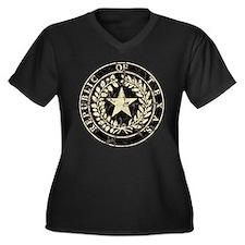 Republic of Texas Seal Distre Women's Plus Size V-