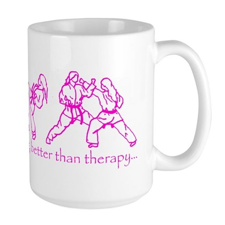 Sparring, better than therapy Large Mug