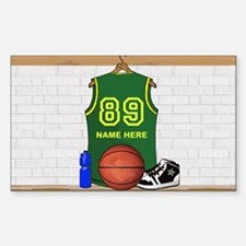 Personalized Basketball Green Decal