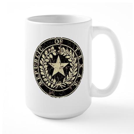 Republic of Texas Seal Distre Large Mug