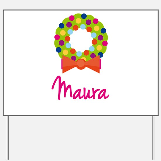 Christmas Wreath Maura Yard Sign